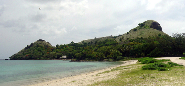 Pigeon Island from the sandbar